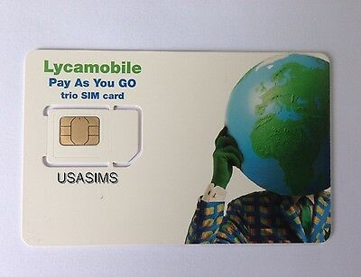Us Usa Sim Card At&t Usa Biggest Network No Contract Plans Uk Seller Free P&p