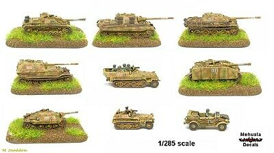 1/300 1/285 6mm Decals German Tank Numbers + White Outline suit GHQ models YK-79