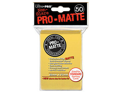 Ultra Pro Deck Protector Sleeves x50 - Pro Matte Non-Glare - Yellow