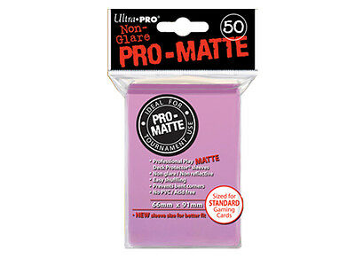 Ultra Pro Deck Protector Sleeves x50 - Pro Matte Non-Glare - Pink