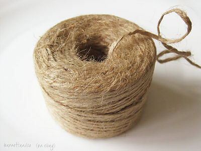 225 Ft Roll of Natural Jute Twine, Burlap Cord