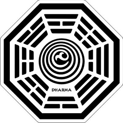 """LOST Dharma - The Orchid - Sticker - 3.5"""" x 3.5"""""""
