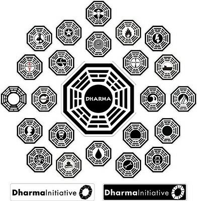LOST Dharma Initiative - Collection - 26 Stickers!