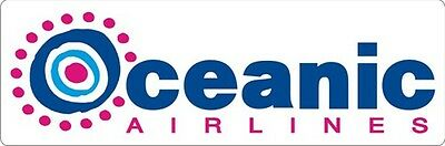"""LOST Dharma - Oceanic Airlines - Sticker - 2.5"""" x 7.5"""""""