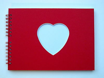Heart/Square Blank Scrapbook / Guest Book / Photo Album A5, 20 Pages, Acid Free