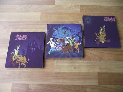 Scooby Doo Canvas Wall Art Plaques/pictures Set- Free Postage