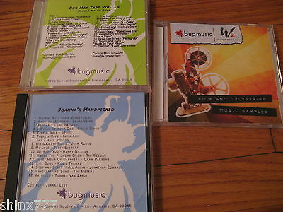 Bug Music Group-Promo Only-Lot Of 3 Compilation Cds