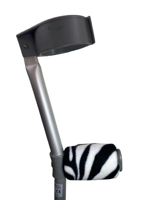 Padded Handle Comfy Crutch Covers/pads - Zebra Print