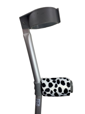 Padded Handle Comfy Crutch Covers/pads - Dalmatian Print