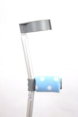 Padded Handle Comfy Crutch Covers - Blue Spots