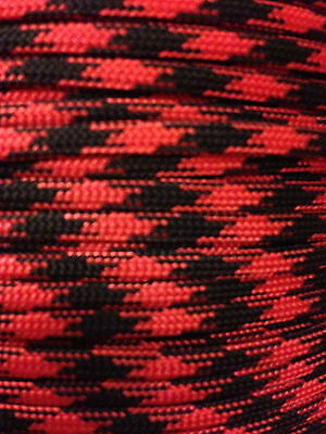 Black Widow 550 Paracord Mil Spec Type III 7 strand parachute cord 10 - 100 ft