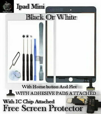 iPad Mini Touch Screen Digitizer Replacement Glass With Ic And Home Button