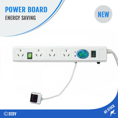 NEW 4 Way Energy Saving Power Board Surge Protected Powerboard TV Smart Infrared