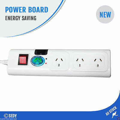 3 Way Energy Saving Power Board Surge Protected Powerboard TV Smart Infrared