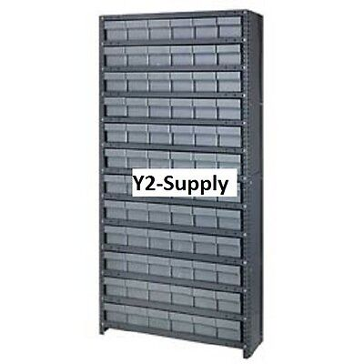 NEW! Closed Shelving Drawer Unit - 36x12x75 - 72 Drawers Gray!!