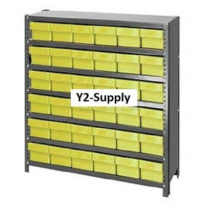 NEW! Closed Shelving Drawer Unit - 36x12x39 - 36 Drawers Yellow!!
