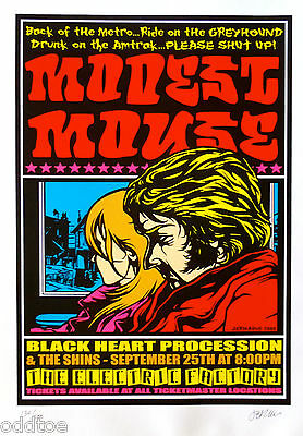 MODEST MOUSE VINTAGE Concert Poster S/N by Jermaine Rogers with The Shins