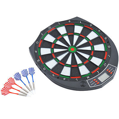 Dart Board Electronic Dartboard Led Score Display Soft Tip 18 Games Voice+ Darts