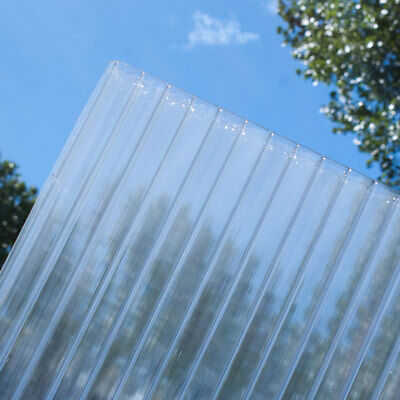 10mm Polycarbonate Roofing Sheet Clear Ideal For Lean To Roofs & Carports