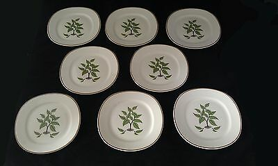 Taylor Smith Taylor Set of 8 Bread & Butter Plates Walter Dorwin Teague