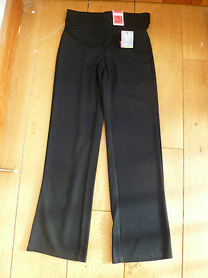 Marks And Spencers Black Grey Knitted Bootcut School Trousers Jet Pocket 6101113