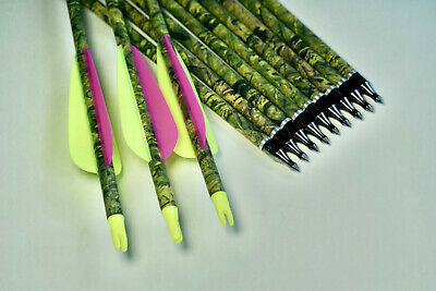 """20 X 31"""" Camo Carbon Arrows For Compound Or Recurve Bow Target Archery New"""