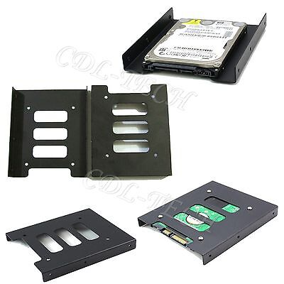 "2.5"" inch to 3.5"" inch Metal Frame SSD Bracket Desktop PC HDD Drive Tray"