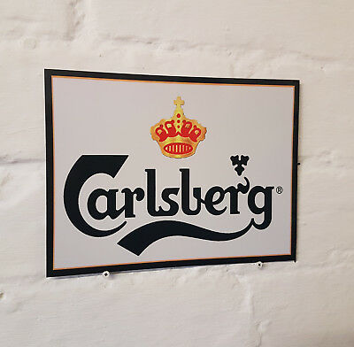 Carlsberg Larger Retro metal Aluminium Sign vintage bar pub man cave beer signs