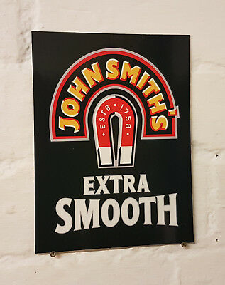 John Smiths Retro metal Aluminium Sign vintage bar pub man cave beer signs