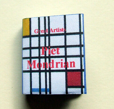 Dollshouse Miniature Book - Great Artists - Piet Mondrian