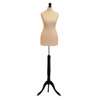 Size 6 Cream Bust Female Tailors Dummy Mannequin Display Stand Dressmakers