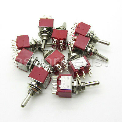 50×Mini Toggle Switch DPDT 2 Position ON-ON 4-PIN 250V 2A 125V 6A Wholesale
