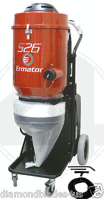 Ermator S26 HEPA Heavy Duty Dust Collector Vac 4 Concrete Grinder Pro vac