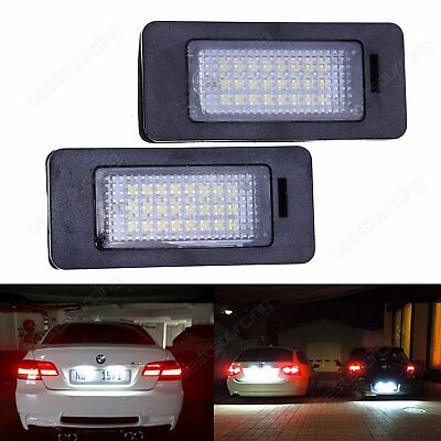 2x BMW 3 5 Series Canbus LED License Number Plate Light Lamp E39 E60 E61 E90 E92