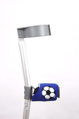 Padded Handle Comfy Crutch Covers -  Blue Football