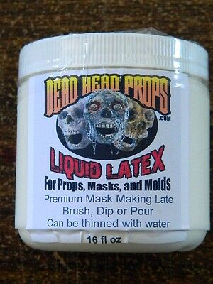 LIQUID LATEX FOR HALLOWEEN PROPS, MASKS OR MOLDS