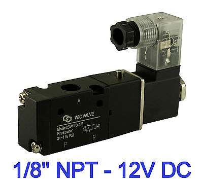 1/8 Inch Pneumatic 3 Way Electric Directional Control Air Solenoid Valve 12V DC