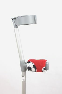 Padded Handle Comfy Crutch Covers/pads -  Red Football