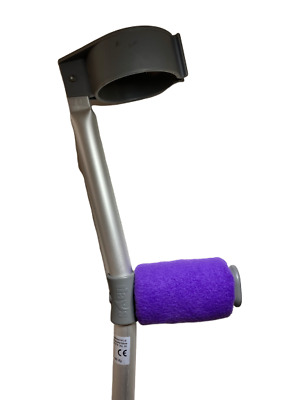 Crutch Handle Padded Covers HIGH QUALITY Cushioned Foam Pad - Purple