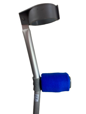 Crutch Handle Padded Covers HIGH QUALITY Cushioned Foam Pad - Royal Blue