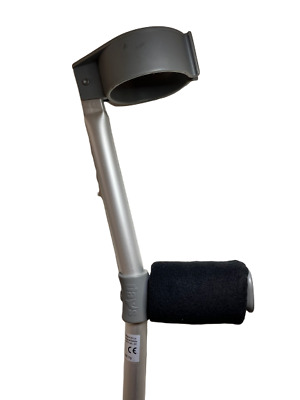 Padded Handle Comfy Crutch Covers - Black