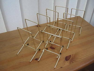 """10 GOLD COLOUR PLATE DISPLAY STANDS UP TO 10"""" (25CM) ITEM (6""""/14cm tall approx)"""