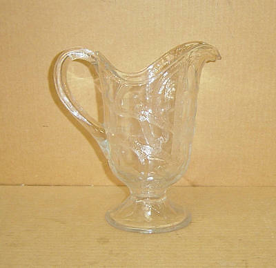 EAPG CRYSTAL BRANCHED TREE PITCHER DALZELL GILMORE & LEIGHTON 1890'S