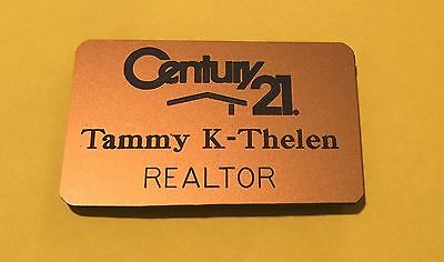 Realtor Century 21 Real Estate Name Badge Tag Personalized Free Shipping