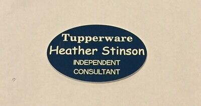 Tupperware Consultant Representative  Name Badge  Tag Personalize Free Shipping
