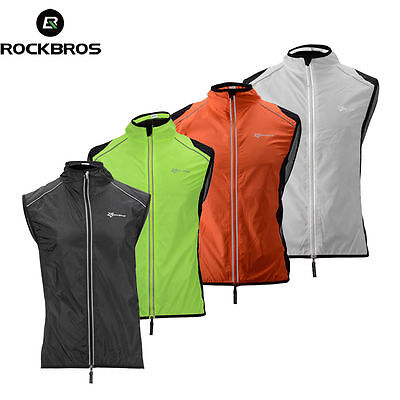 RockBros Mens Cycling Vest MTB Road Bike Wind Vest Windvest Windproof S-4XL