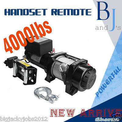 Recovery NEW 12V 4000LB/1841kg Remote Electric Winch 4x4 4WD/BOAT/ATV/TRUCK/CAR