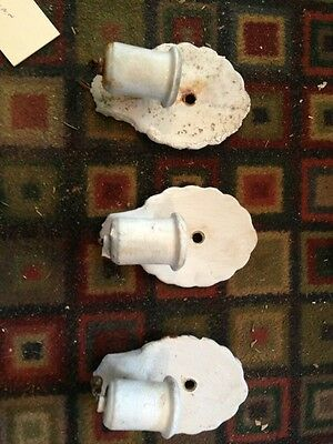 Three Matching Porcelain Bathroom Fixtures Needing Redone Painted Over L 47