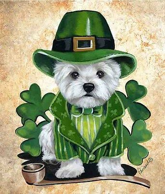 Westie Leprechaun Garden Flag  Free Ship Usa Rescue