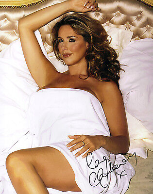 """SEXY 10"""" x 8"""" PHOTO ( COA ) SIGNED """"TTM"""" BY CLAIRE SWEENEY OF """"BROOKSIDE"""" FAME"""